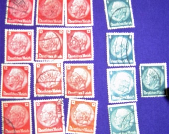 VF.NH. 1932 First HINDENBURG, 4ph and 12ph,  Deutfches Reich, German Stamps