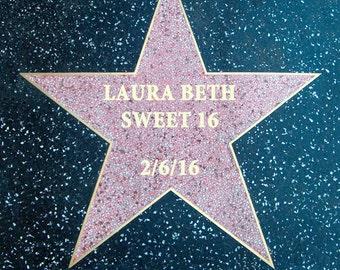 Hollywood star tag