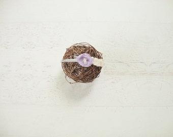RTS - Lavender Headband Flower girl Newborn Photo Prop baby purple  - Ready to Ship