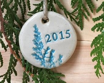 Ornament 2015 Stoneware Pottery