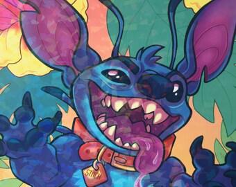Sparkle Stitch A4 Print