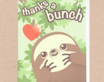 Thanks a Bunch! Sloth Card