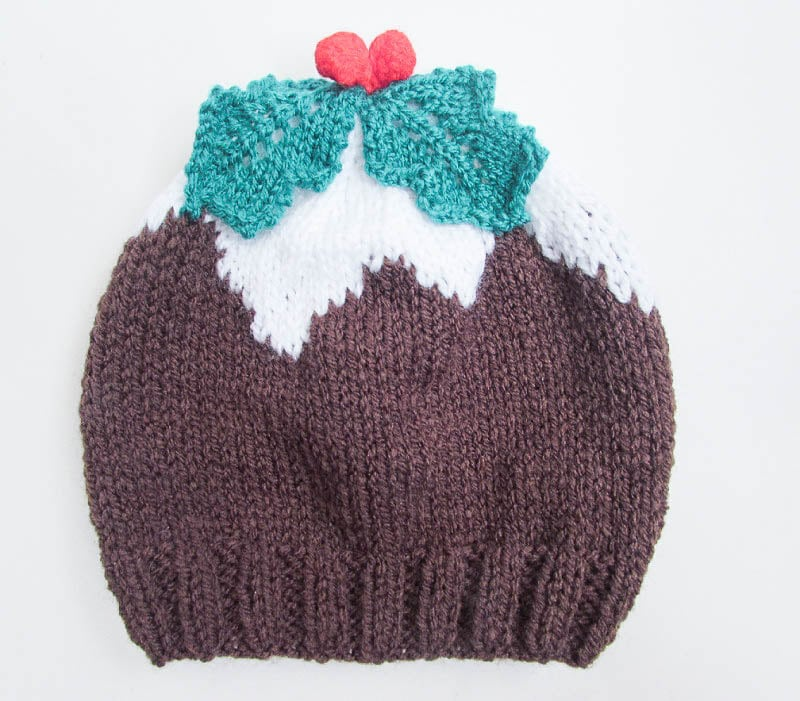 Knitting pattern christmas pudding hat baby beanie hat christmas this is a digital file dt1010fo