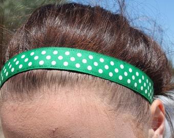 Polka Dot Headband Non Slip, Headbands for Girls Gifts, Choice of Color and Size, Nonslip Headband Girls