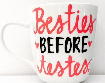 besties before testes bff mug- besties  Coffee Mug- Funny coffee mug- Awesome coffee mugs- Parks and Rec