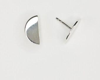 Earrings Semicircle in Silver