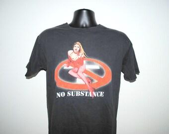 90's Bad Religion No Substance Rare Vintage Cult Classic Punk Rock Band Concert Tour T-Shirt