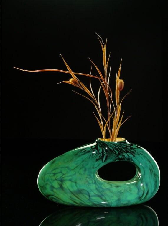 horizontal art glass sculpture jade bolinas. Black Bedroom Furniture Sets. Home Design Ideas