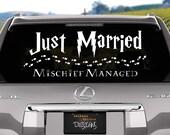Harry Potter Just Married Wedding Vinyl Decal