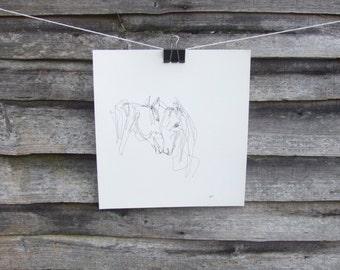 Original Abstract Horse Drawing