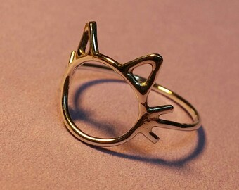 Kitty Kitty Ring in Sterling Silver