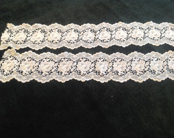 vintage machine made lace