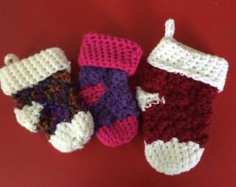 Crochet Stocking Gift Card Holder