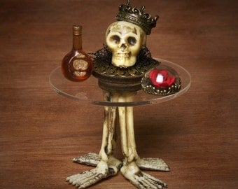 Creepy Miniature Side Table for your Dollhouse