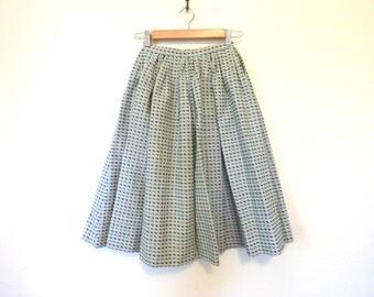 1950s High Waist Full Circle Midi Skirt