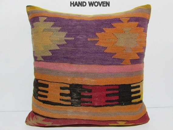 Large Floor Pillow Cases : large kilim pillow 24x24 large floor pillow case 24x24 pillows