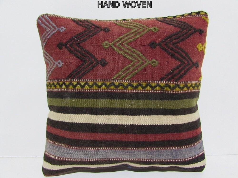 party kilim pillow case southwestern pillow case red