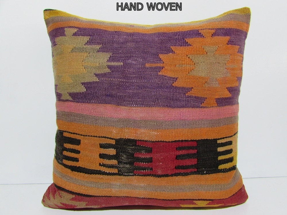 Large Decorative Pillows Floor : large kilim pillow 24x24 large floor pillow case 24x24 pillows