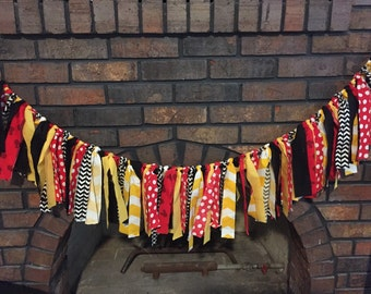 Mickey Mouse theme rag tie garland, banner