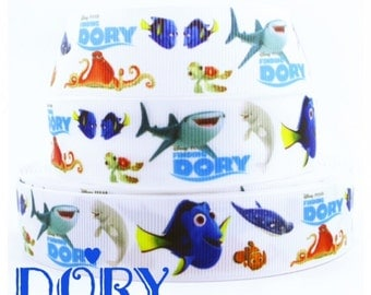 1'' Gross Grain Ribbon Finding Dory - 1 Yard