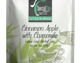 8 oz. Cinnamon Apple with Chamomile Herbal Tea with Free Tea Infuser