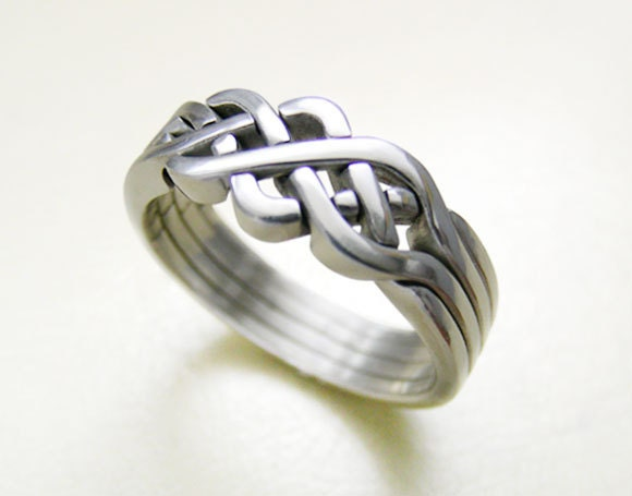 pioneer unique puzzle rings by puzzleringmaker sterling