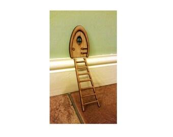 3D Fairy Door with ladder Elf Wooden Laser Cut Fairies Pixies Handmade