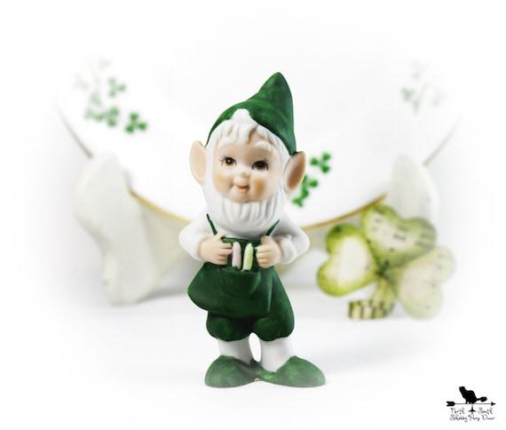 Irish Figurine, Leprechaun, March Decor, Early Lefton Collectible, Irish Memorabilia, St Patrick's Day