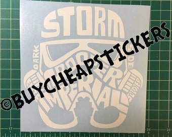 Star Wars Storm Trooper Decal 6x6