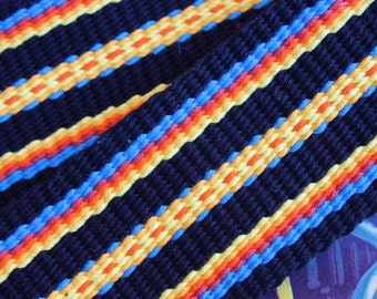 Guitar Strap, Banjo Strap, Instrument Strap, Handwoven in the USA. One-of-a-Kind