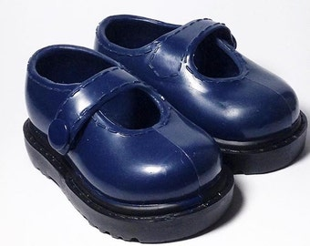 Replacement Battat Our Generation Doll Navy Blue Maryjane shoes- Also fits American Girl dolls for upscale custom prop accessories