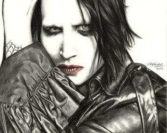 Marilyn Manson - Signed Print