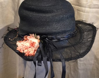 1920's Wide Brim Hat ORIGINAL VINTAGE