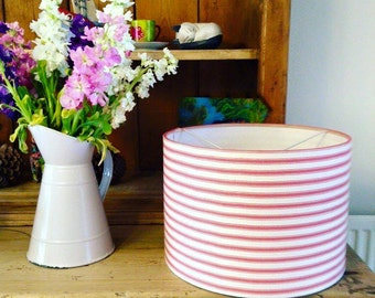 Striped French Ticking Lampshade
