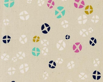 "Cotton + Steel Fabric - ""Hot Cross Buns Natural"" from Mochi by Rashida Coleman-Hale at Cotton and Steel."