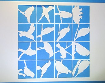 Many birds, papercut