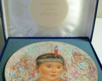 Edna Hibel Rosenthal Plate Chief Red Feather Nobility Of Children Plate