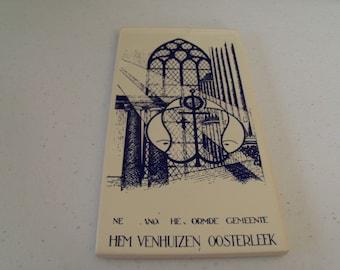 Mosa Holland Hem Venhuizen OOsterleek Tile Painting