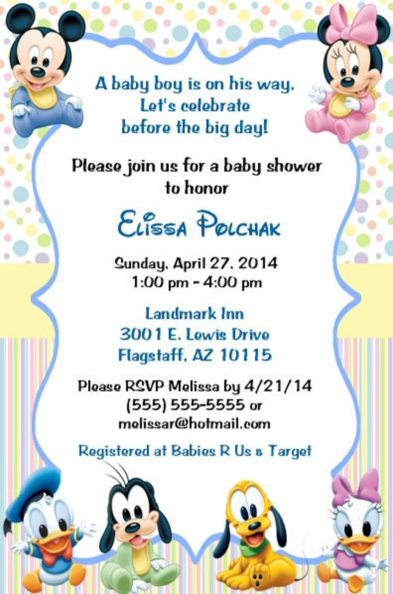 disney baby baby shower invitations printable diy boy girl