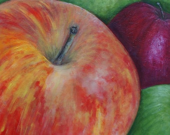 Apples For Sale: Original Acrylic Painting