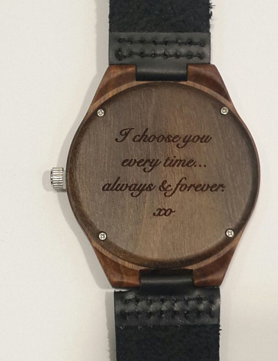 mens wooden engraved wood groomsmen gift by