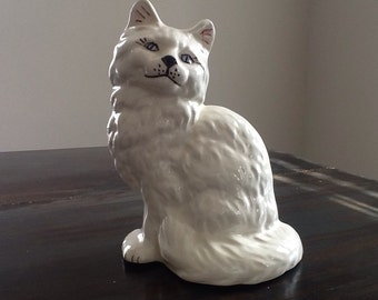 Meow ceramic white cat
