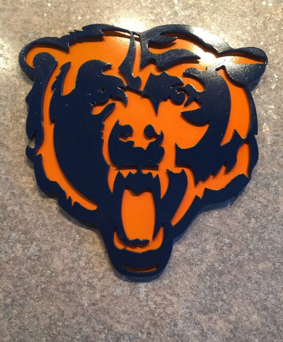 Chicago Bears Wall Art items similar to chicago bears metal art wall decor sign mancanve