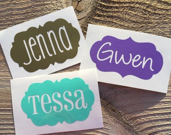 Name decal, phone decal, car decal, cup decal, yeti decal, mug decal, sticker, custom decal, vinyl decal, personilized custom, word decal