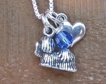 Maltese Mini Heart Sterling Silver Necklace