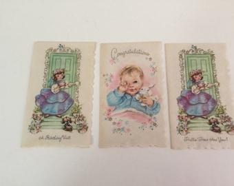 Vintage Coronation Parchment Cards - Set of 3