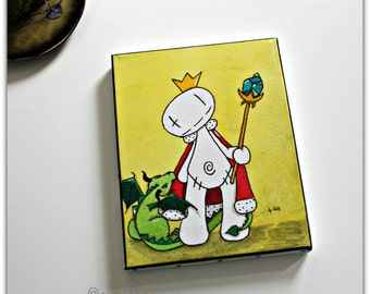 Small Smorglub King, painting