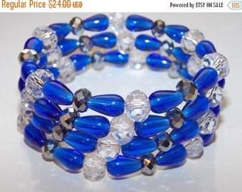 CLEARANCE 30%OFF Cobalt Blue Wrap Bracelet