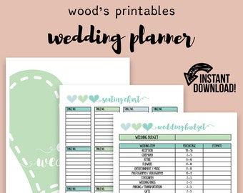 free printable wedding planner book