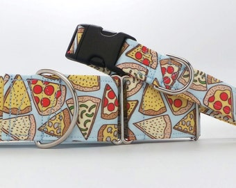 Just A Slice Dog Collar (Martingale, Buckle, or Tag)